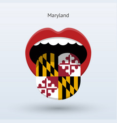 Electoral vote of maryland abstract mouth vector
