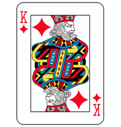 King of diamonds french version vector