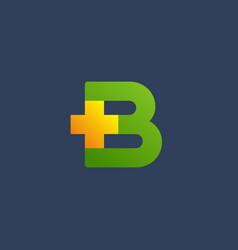 letter b cross plus logo icon design template vector image