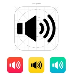 Speaker icon volume max vector