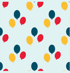 Color glossy balloons seamless pattern vector