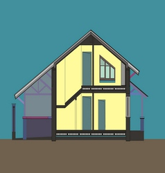 06 colored house v vector