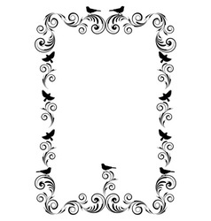 Frame with ornament and birds vector image