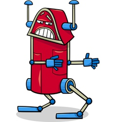 Robot character cartoon vector