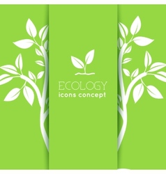 Flat design of ecology environment green clean vector