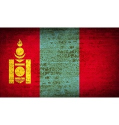 Flags mongolia with dirty paper texture vector