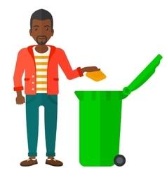 Man throwing trash vector
