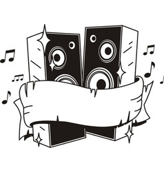 Speakers tattoo vector