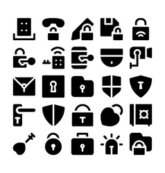 Security icons 4 vector