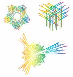 abstract line vector image vector image