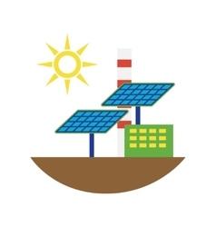 Alternative energy source solar panels vector