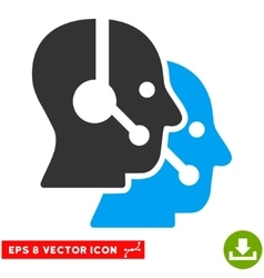 Call center operators eps icon vector