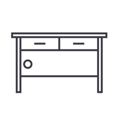 chest of drawers line icon sign vector image