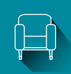 Cinema chairs isolated icon vector