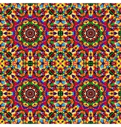 Circular geometric seamless kaleidoscope pattern vector