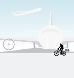 Cycling airport vector