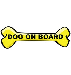dog on board cartoon sign vector image vector image