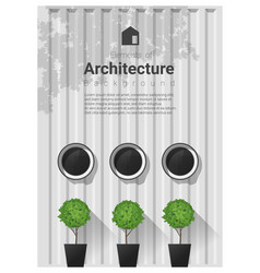Elements of architecture window background 7 vector