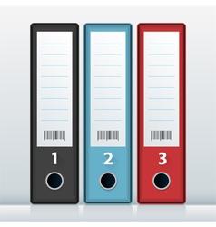 File Folders vector image