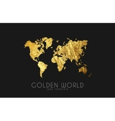golden world map world logo design creative vector image vector image