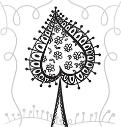 Hand drawing zentangle element with decorative vector image