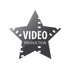 Logo video shooting star vector