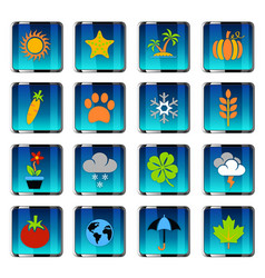 Nature icon set vector