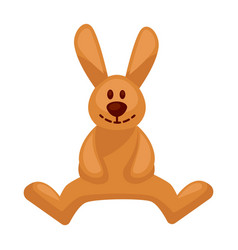 Plush toy hare with long ears vector