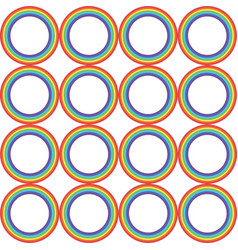 Rainbow circle pattern vector