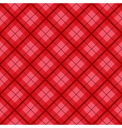 Red tartan diamond background vector