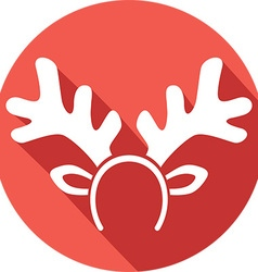 Reindeer Mask Icon vector image