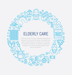 Senior and elderly careline icon medical poster vector