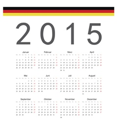 Simple german 2015 year calendar vector image