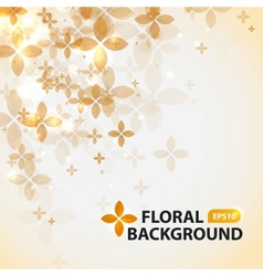 Transparent floral pattern on abstract background vector image