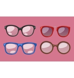 Glasses isolated on background vector