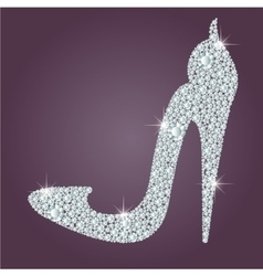 Elegant ladies high heels shoe shape made with vector