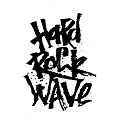 Hard rosk wave cola pen calligraphy font vector