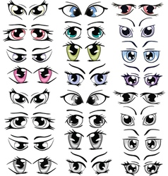 Complete set of the drawn eyes for you design vector