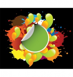 colorful template vector image