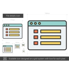 File details line icon vector