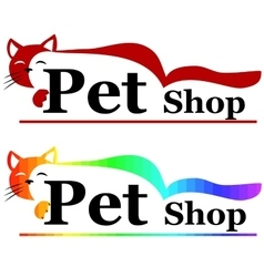 Pet shop sign or banner vector