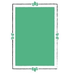 Vintage frame with leaves vector image