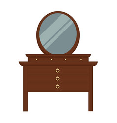 pier glass with lot of drawers and round mirror vector image