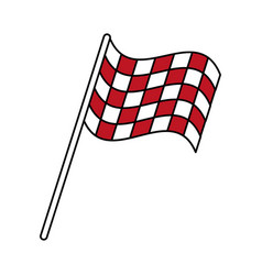 Final lap flags icon image vector