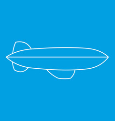 Dirigible icon outline style vector