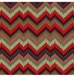 Style Seamless Knitted Pattern vector image