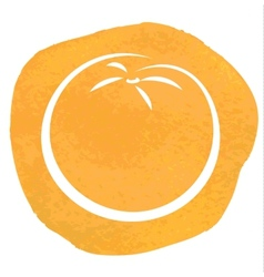 sketch of orange vector image