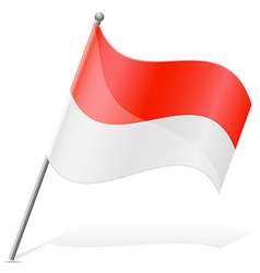 Flag of indonesia vector