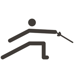 Fencing icon vector