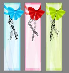 three fashion banners vector image